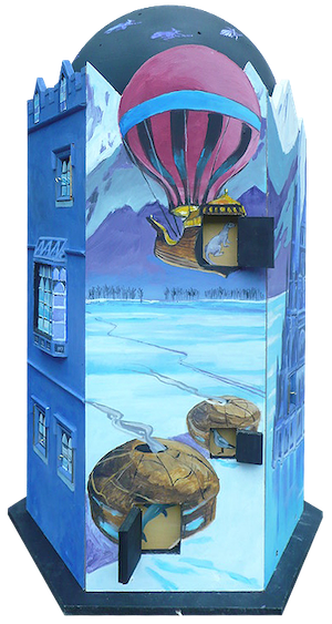 adrian brooks travel theatre box painting story oxfordhshire open dorchester